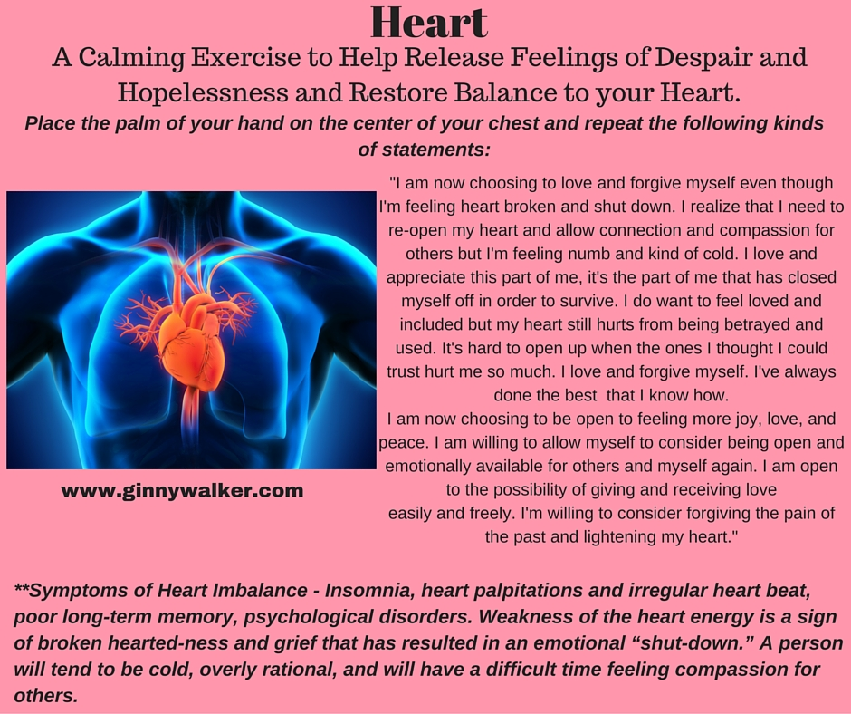 Emotional healing for the heart